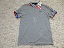 NWT Puma BMW Motor Sports F1 Formula 1 Gray Polo Shirt (Men Size Large)