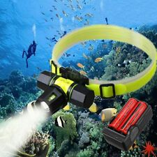 Underwater 100m Swimming T6 LED Zoomable Diving Headlight Headlamp Torch Set