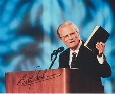 Billy Graham (Candid) Christian Evangelist EXTREMELY RARE SIGNED RP 8X10 WOW!!!