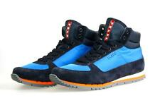 AUTHENTIC LUXURY PRADA HIGH TOP SNEAKERS SHOES 4T2969 BLUE 8,5 42,5 43