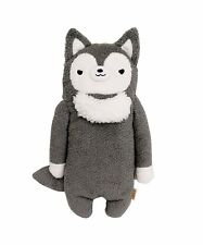 Japanese Cute Stuffed Animal Plush Fumo Fumo Wolf Rufu Dark Grey L
