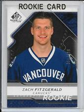 08-09 SP Game Used Zach Fitzgerald Rookie # 176