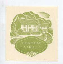 Ex libris by Allan Jordan for Fairley