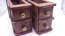 One Pair 2 Sets Antique Treadle Sewing Machine 2 Drawers