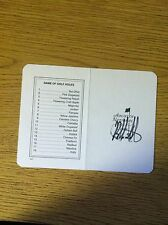 Bubba Watson signed Masters Scorecard PROOF auto