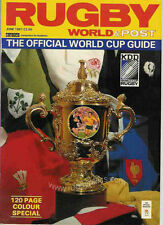 Coupe du monde de Rugby 1987 guide officiel MAGAZINE JUIN 1987