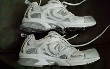 New Balance Ladies Athletic size 7.5 M White/Silver Gently Worn but  2 spots