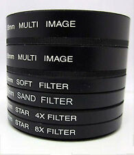 58mm 6PC Filter Multi Image 4 Flair 8 Flair Sand Soft for Canon EOS 550D 20D T3i
