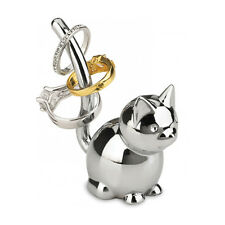 Umbra Zoola Cat Ring Holder Chrome Jewlery Organizer Stand Valentine Gift