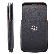 Genuine Blackberry Z30 Leather Sleeve Protective Pouch Pocket Cover Case Black