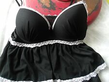 Native Intimates Baby Doll Night Gown Nightie Chemise Size 34B Super Sheer