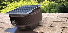 Aura Solar Fan 10 Watts 740 CFM Roof Vent 12 In Exhaust Active Ventilation Brown