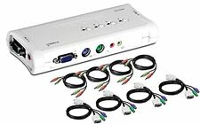 TRENDnet 4-Port PS2 KVM Switch and Cable Kit with Audio, TK-408K