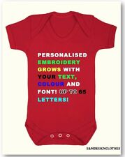 Personalized Your Text Baby Vest Bodysuit,Grow,Outfit Christmas Gift New Baby