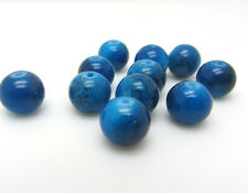8MM 30pcs Loose Round Crackle Art Crystal Glass Round Charm Beads in Blue