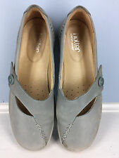 Hotter Gray Leather Mary Jane Comfort Casual Career US 10 UK 8