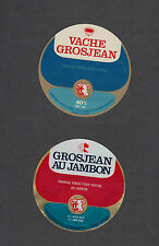 Ancienne   étiquette  Fromage France  MM217 Fromage Vache Grosjean