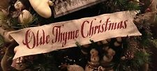 Primitive Wired Burlap Ribbon Banner Olde Thyme Christmas Ornament Garland LRG