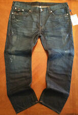 NWT $282 True Religion Mens Hand Picked Skinny W Flaps Blue Jeans ....Size 44