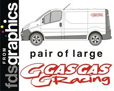 2 x large (700mm) Gas Gas Racing van stickers/decals