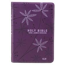 KJV HOLY BIBLE King James Version Pocket Edition Purple LuxLeather Floral