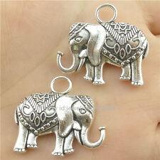 16171*4PCS Antique Silver Vintage Animal Fancy Elephant Pendant Charm Alloy