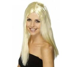 Ladies Star Style Fancy Dress Wig Blonde 70s 1970s New by Smiffys