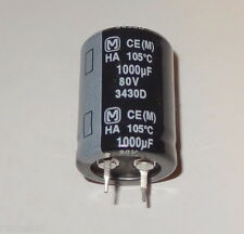 ^ 1 pc 1000uF, 80V, 105 deg, Snap-In, electrolytic capacitor by Panasonic