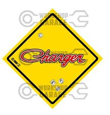 HEMI CHRYSLER VALIANT - Badge Style Stickers - CHARGER Roadsign  #6