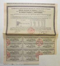 Action / Récépissé : Dette publique empire Ottoman 1933 ( 284 )
