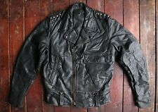 VTG 60s AMERICAN STEERHIDE LEATHER POLICE MOTORCYCLE JACKET CAL USA BIKER SMALL