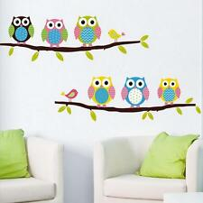 Removable Tree Owl Wall Decals Kids Bedroom,Baby Nursery Stickers Art Room Decor