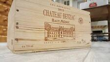 CHATEAU BEYZAC HAUT. MEDOC 6 BOTTLE FRENCH WOODEN WINE CRATE BOX HAMPER STORAGE