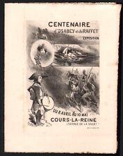 Menu. Centenaire Isabey - Raffet. Salon Arts lithographiques carte postale. 1904