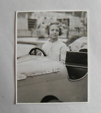 Vintage 50s B/W Photograph. Girl in a Dodgem Car/ Fairground Ride. Supercar