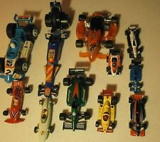 "Race Cars-Open Wheel -Lot of 11---2 1/2""-8"" long."