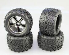 Traxxas 1/16 E-Revo Front & Rear Gemini Wheels / Talon Tires (4) Mounted 71076