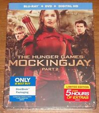 THE HUNGER GAMES MOCKINGJAY PART 2 BLU-RAY DVD DIGITAL HD STEELBOOK NEW SEALED