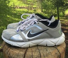 Nike Women's Free XT Quick Fit+ Silver White Black 415257 004 Size 6.5