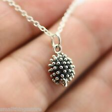 HEDGEHOG NECKLACE - 925 Sterling Silver Hedgehog Pendant Charm Jewelry Porcupine