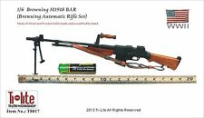 TI-LITE WWII US Metal & Wooden Browning M1918 BAR Automatic Rifle Set 1/6