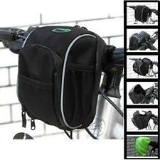 Cycling Bicycle Handlebar Bag Bike Front Basket Pouch With Rain Cover Black - LD