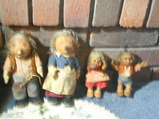 Vintage Steiff Hedgehog Family ~ Mecki Micki Macki Mucki SOLD AS IS..