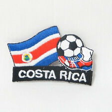 COSTA RICA SOCCER .. KICK COUNTRY FLAG EMBROIDERED IRON-ON PATCH CREST BADGE