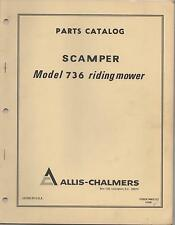 1969 ALLIS-CHALMERS SCAMPER MODEL 736 RIDING LAWN MOWER PARTS MANUAL