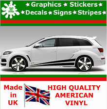 "10"" High Car Side Stripes Graphic Decal Vinyl Stickers Van Auto Rally Race F1_26"