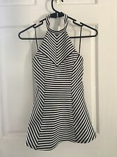 Guess Top Choker Halter Black White $70 New Without Tags