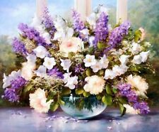 FD4191 Purple Lavender Digital Oil Painting On Canvas Paint By Number DIY Kit