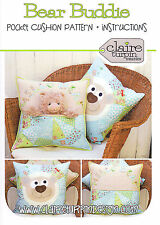 Bear buddie-applique sewing craft pattern-coussin shabby chic