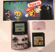 NINTENDO GAME BOY COLOR CLEAR TRANSPARENT PURPLE CONSOLE GAMEBOY COLOUR SYSTEM